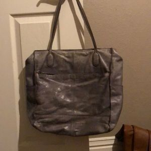 Hobo bag!  Distressed gray in color